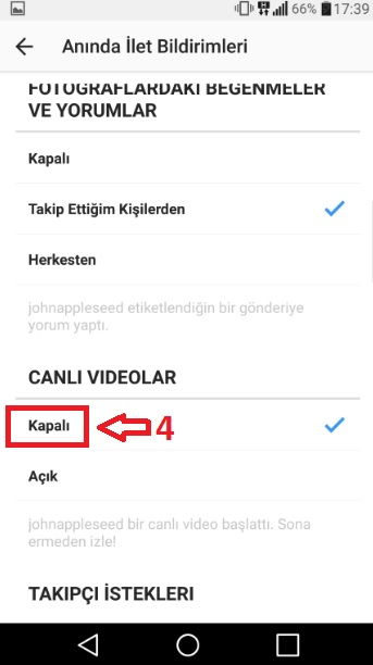 canlı video bildirimi kapatma-4